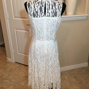 Dress Barn Dresses - White Lace Dress